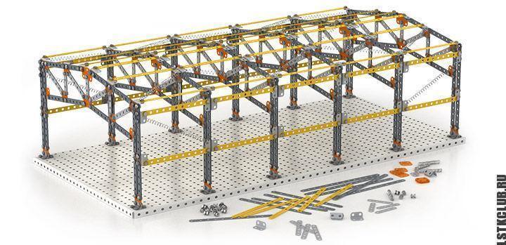 Конструкция ангара из ЛСТК