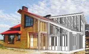 Проект дома из ЛСТК