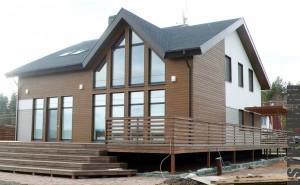 Построенный зарубежный дом по технологии ЛСТК