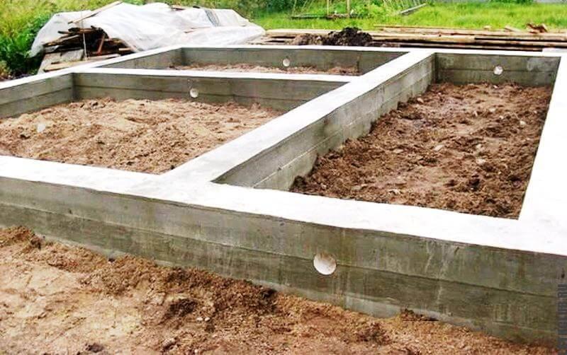 Строительство ленточного фундамента для дома своими руками