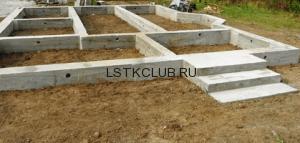 Ленточный фундамент под строительство дома ЛСТК