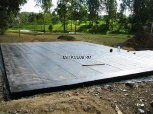 Плитный фундамент для ЛСТК