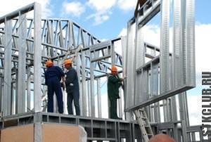 Монтаж второго этажа жилого дома ЛСТК