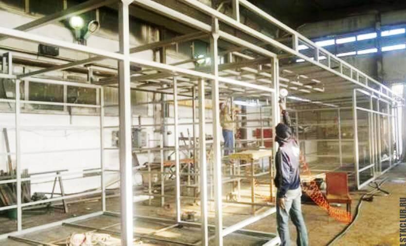 Строительство торговых павильонов