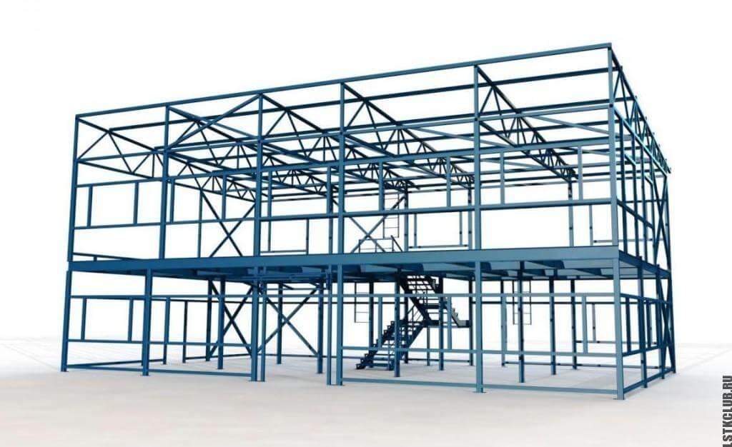 3D проект конструкции магазина