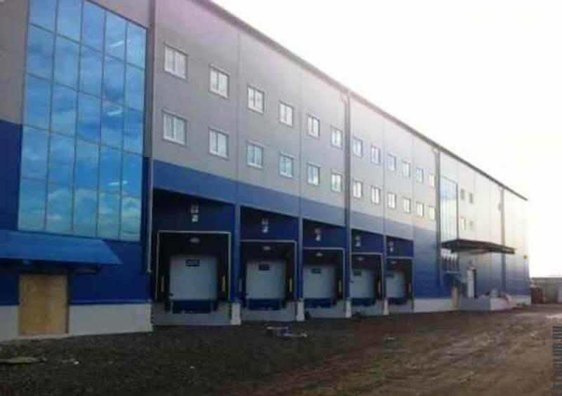 Построенный магазин из металлоконструкций ЛСТК и ЛМК в России