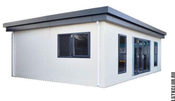 Модульный магазин из конструкции ЛСТК