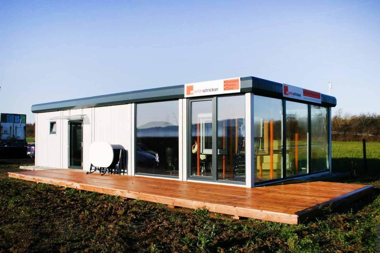 Модульный магазин из каркаса ЛСТК в Германии