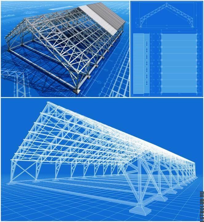 Трехмерное проектирование конструкции ЛСТКHangar.
