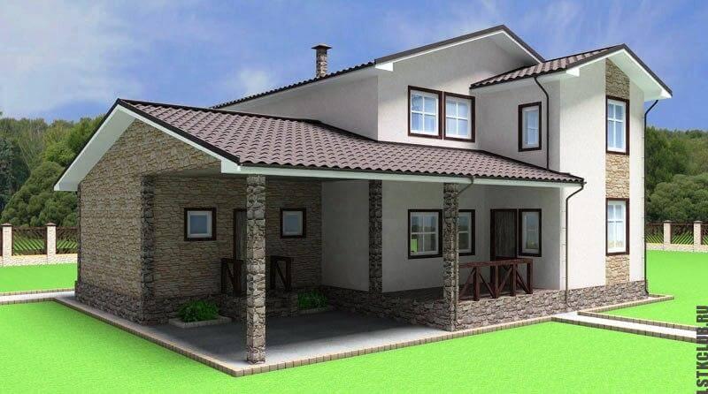 Трехмерное проектирование жилого дома из ЛСТК