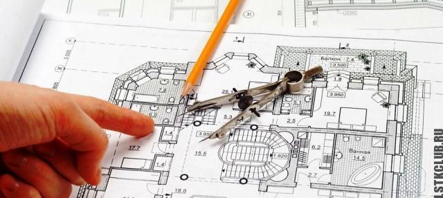 Чертеж схема проекта дома