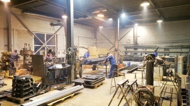 Рабочий процесс на заводе металлопроката