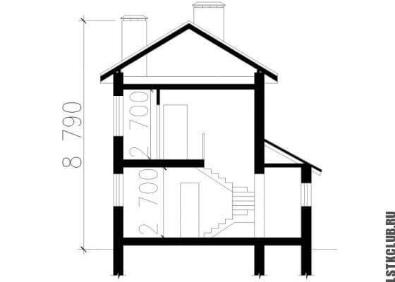 Схема дома ЛСТК