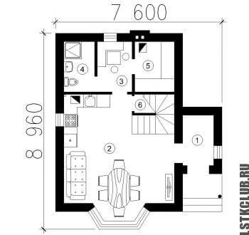 Схема первого этажа