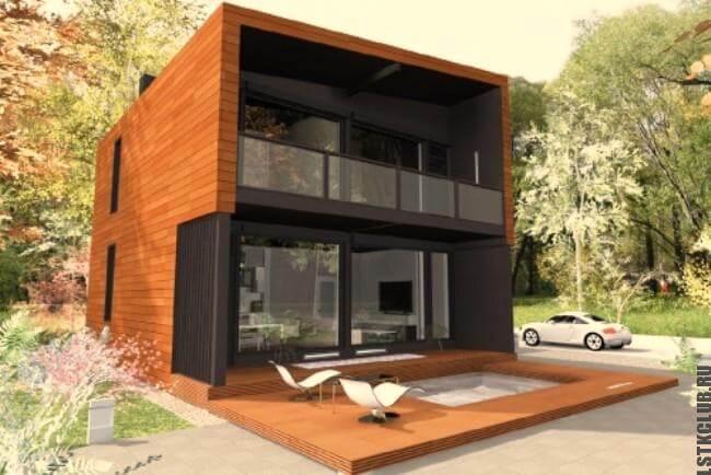 Проект дома из ЛСТК площадью 210 м