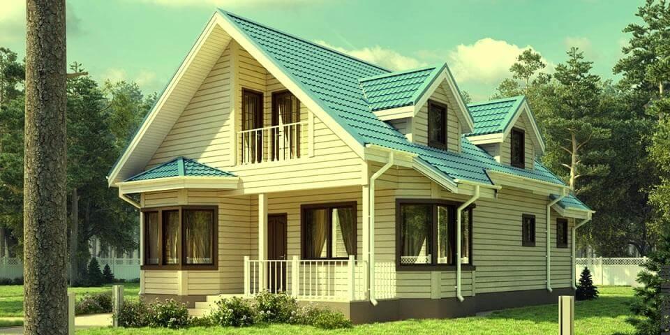 Готовый проект дома из ЛСТК