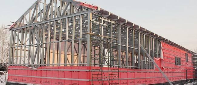 Строительство ангара / склада по технологии ЛСТК