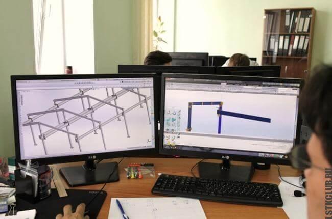 Работа над проектированием ангара