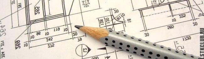 Чертежи внутренней планировки на бумаге