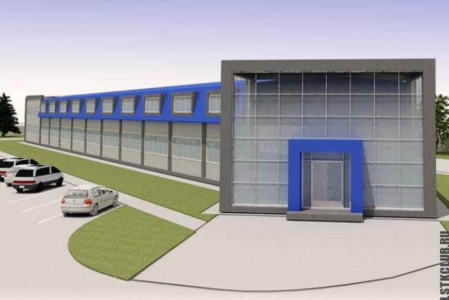 Проект здания из ЛМК (трехмерный)