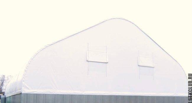 Крыша тентового склада
