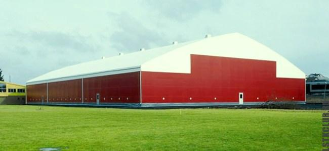 Тентовый склад построенный по уникальному проекту