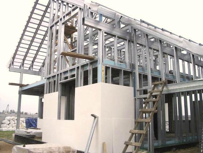 Строительство жилого дома из легких стальных конструкций