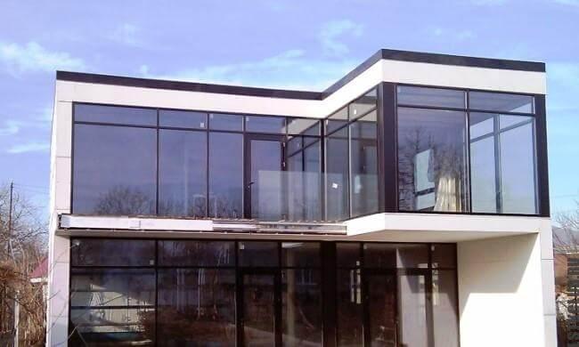 Современный загородный дом из металлической конструкции ЛСТК ЛМК