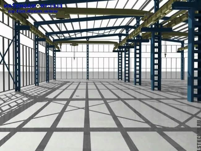 Промышленное сооружение из легких металлических конструкций ЛСТК и ЛМК.