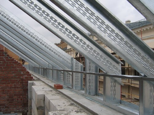 Крыша с термопрофиля