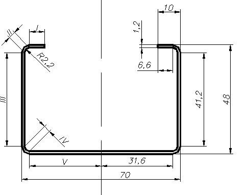 Гнутый тонкостенный высокопрочный стальной профиль ЛСТК