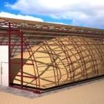 Визуализация проекта арочного ангара из ЛСТК конструкции