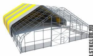 Ангар из лёгкой ЛСТК конструкции