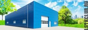 Визуализация производственного здания из ЛСТК