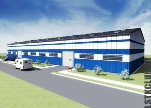 Проект производственного здания ЛСТК