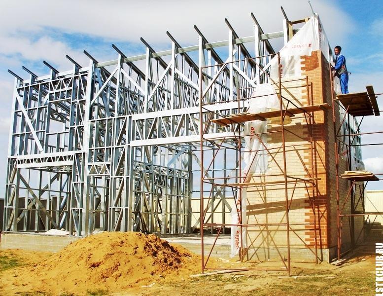 Процесс строительства коттеджа по технологии ЛСТК