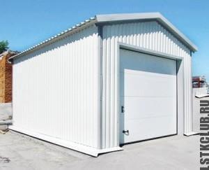 Готовый гараж с автоматическими воротами.