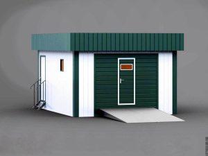 Типовой проект гаража на 1 автомобиль из ЛСТК