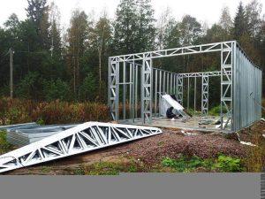 Строительство каркасного гаража из ЛСТК