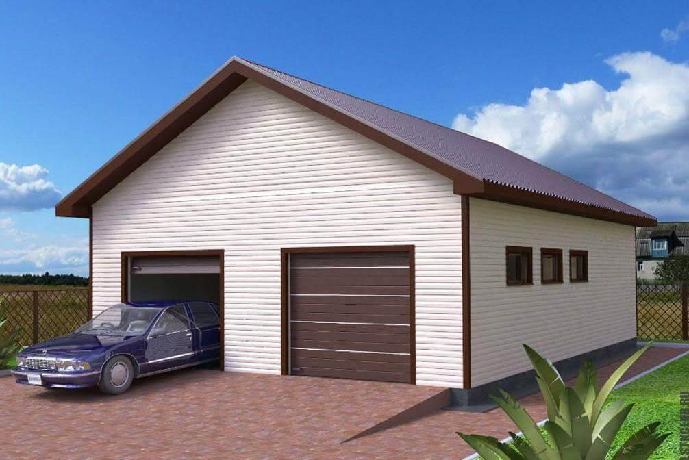 Проект готового гаража.