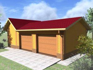 3D проект гаража ЛСТК