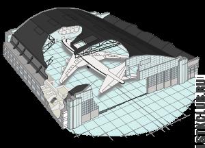 Арочные ангары из ЛСТК (визуализация)