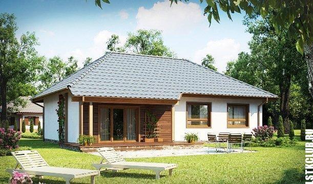Фото дома из готового комплекта ЛСТК