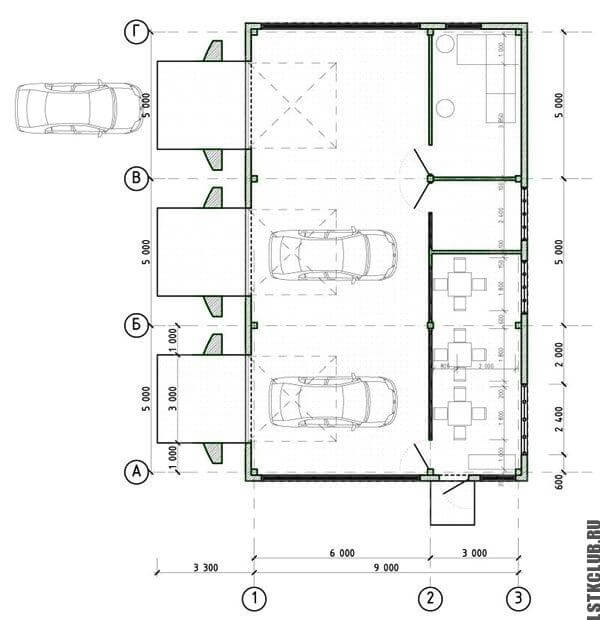 Проект автомобильной мойки ЛСТК
