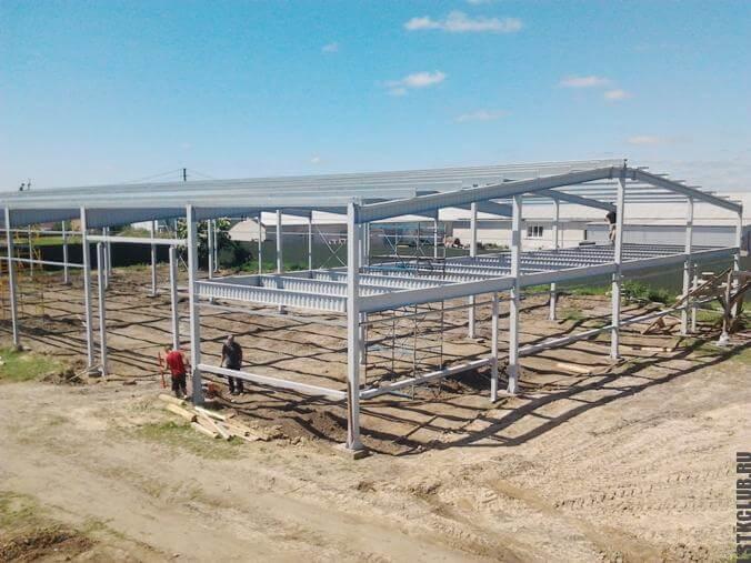 Процесс строительства паркинга из ЛСТК и ЛМК