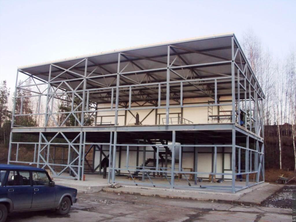 Каркас магазина из металлических конструкций ЛСТК и ЛМК