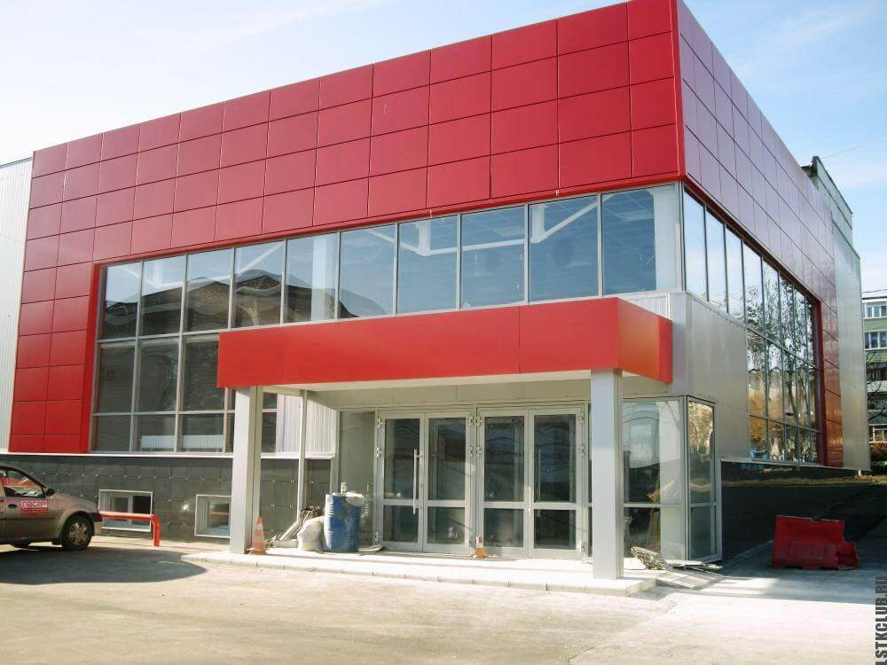 Готовый магазин из ЛСТК построенный за 1.5 месяца