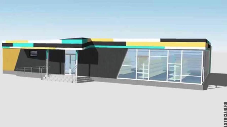 Проект магазина площадью 188 метров