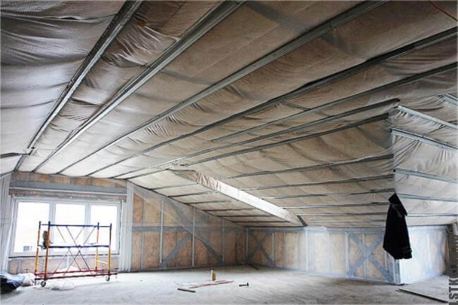 Мансардный этаж с утеплением и изоляцией