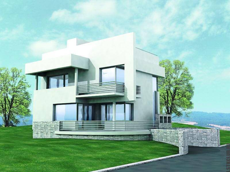 Готовый трехмерный проект жилого дома ЛСТК